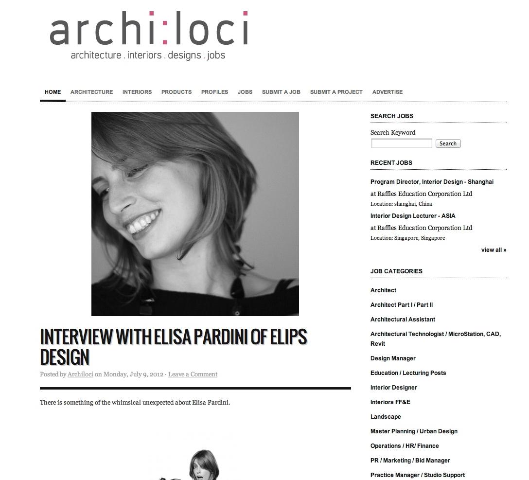 Elisa Pardini Interviews by ARCHI:LOCI