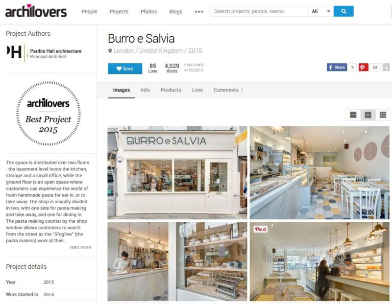 Burro e Salvia – Best on Archilovers 2015