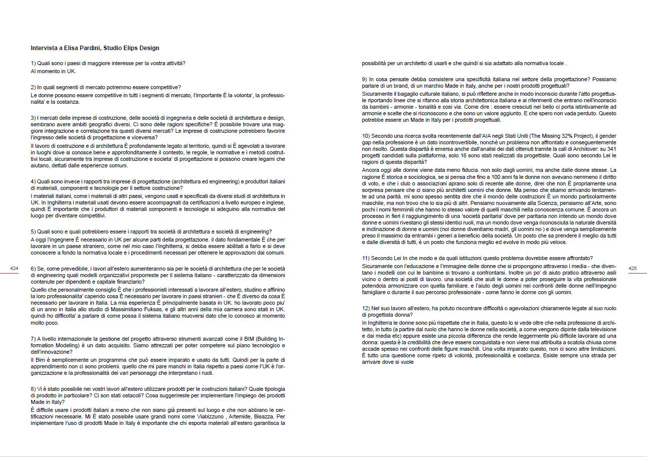 Elisa Pardini interview for ARCHITETTURA: Energia per il Made in Italy