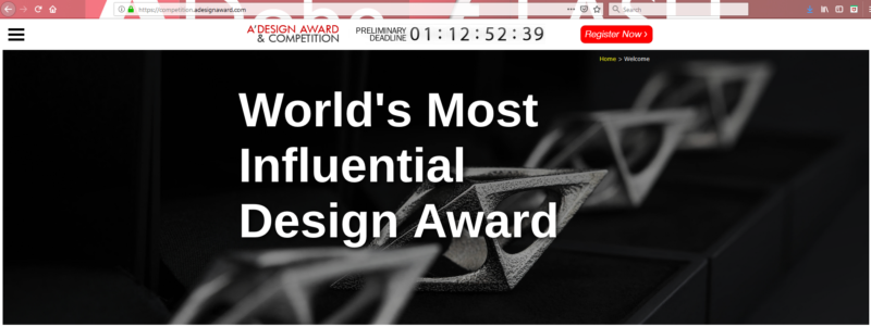 Pardini selected as Jury Panel of A'Design Award